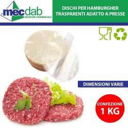 Dischi per Hamburgher Trasparenti Biodegradabili 1 Kg Varie misure Disponibili