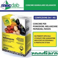 Concime Granulare Solanacee 1KG Per Pomodori Patate Peperoni e Melanzane Oro Verde