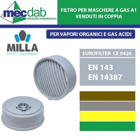 Filtro per Maschera a Gas A1 Per Vapori Organici e Gas Acidi