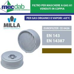 Filtro per Maschera a Gas A1 Per Vapori Con Punto di Ebollizione 65°C