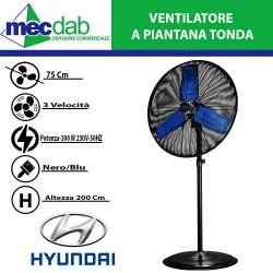 Ventilatore a Piantana Tonda 300 W  Regolabile in Altezza Max 200 Cm Diametro 75 Cm HYUNDAI 75710