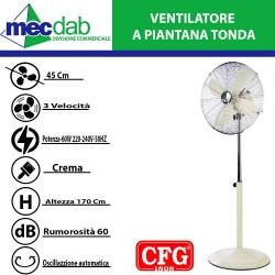 Ventilatore a Piantana Regolabile in Altezza Max 170 cm  60W EV056 CFG