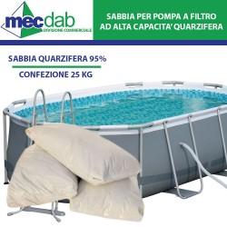 Sabbia Per Filtro Piscine 25 Kg Per Pompa a Filtro Sabbia Quarzifera 95%