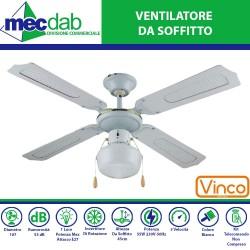 Ventilatore A lampada da Soffitto Luce 55W Vari Colori Disponibili