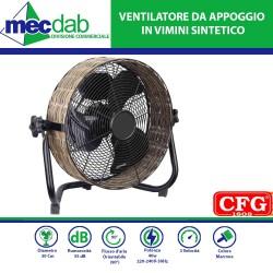 Ventilatore da Appoggio con griglia spider Flusso d'aria orientabile (90°) 40 W Vintage Vimini CFG