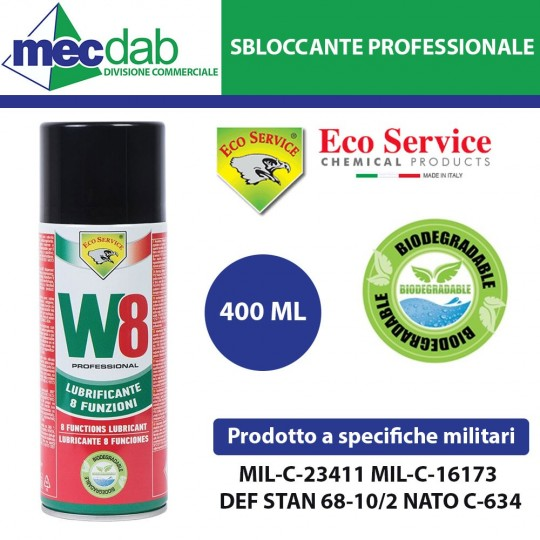 Sbloccante Spray Lubrificante W8 Professionale 400ml