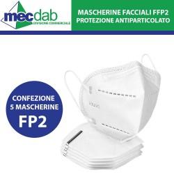 Mascherina Facciale FFP2 Confezione da 5PZ Filtro Protezione Antiparticolato