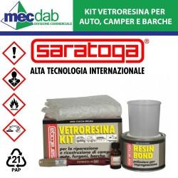 Kit Riparazione Auto Barche e Camper Vetroresina Stucco Saratoga 500ml