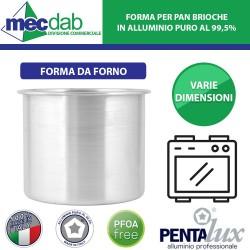 Forma Per Pan Brioche Tortiera in Alluminio Puro 99,5% Pentalux Varie Dimensioni