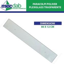 Battisedia Salva Parete 80 x 12 cm in Plexiglass Trasparente