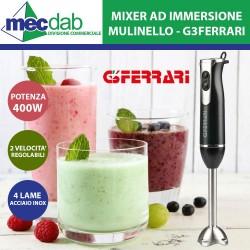 Mixer ad Immersione 4 Lame in Acciaio Inox  400W Mulinello GFerrari