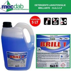 Detergente Brillante per Lavastoviglie 5 LT Redel Brill1 - HACCP