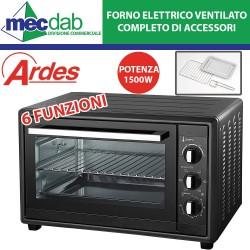 Forno Elettrico Ventilato Ardes Con Luce Interna, 30 Litri 6 Funzioni 1500W