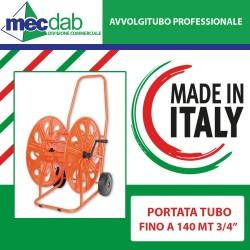 """Avvolgitubo Professionale Con 2 Ruote Portata Tubo Max 140MT 3/4"""""""
