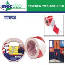 Nastro Adesivo in PVC Segnaletico Rosso e Bianco  ad Alto Spessore Boston-121 937