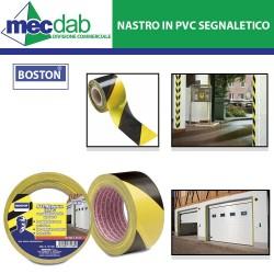 Nastro Adesivo in PVC Segnaletico Giallo e Nero  ad Alto Spessore Boston-121 938