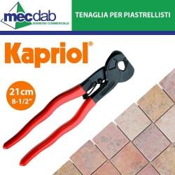"""Tenaglia per Piastrellisti 21Cm 1/2"""" Becchi Curvi Taglio Ceramiche Mosaici Kapriol"""