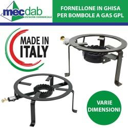Fornellone a Gas in Ghisa Telaio Tondo 3/4 Piedi Per Barbecue e Cottura Pomodori