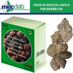 Sassi di Roccia Lavica per Barbecue - 3kG
