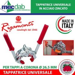 Tappatrice Universale Per Tappi a Corona Ø 26,5 Cm Rigamonti 105