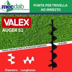 Punta Per Trivella Valex  Per Motore Albero  Ø 20mm Auger 52 Varie Dimensioni