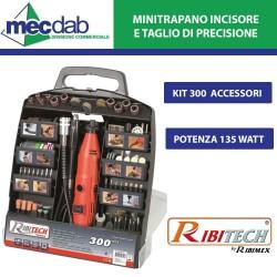 Kit Mini Trapano da Incisione e Taglio di Precisione 135W Kit 300 Pezzi con Valigetta - Ribitech