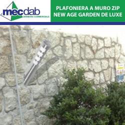 Plafoniera da Giardino Zip A Muro Altezza 36 Cm New Age Garden DE Luxe