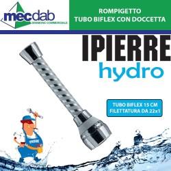 Rompigetto per Rubinetti con Tubo Biflex da 15Cm e Doccetta Filettatura da 22x1 IPIERRE HYDRO