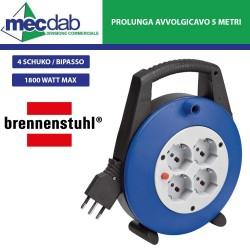 Prolunga Elettrica Avvolgicavo 5MT 4 Prese Schuko / Bipasso - Brennesthul 1092235