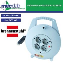 Prolunga Elettrica Avvolgicavo 10MT 4 Prese Schuko / Bipasso Brennensthul