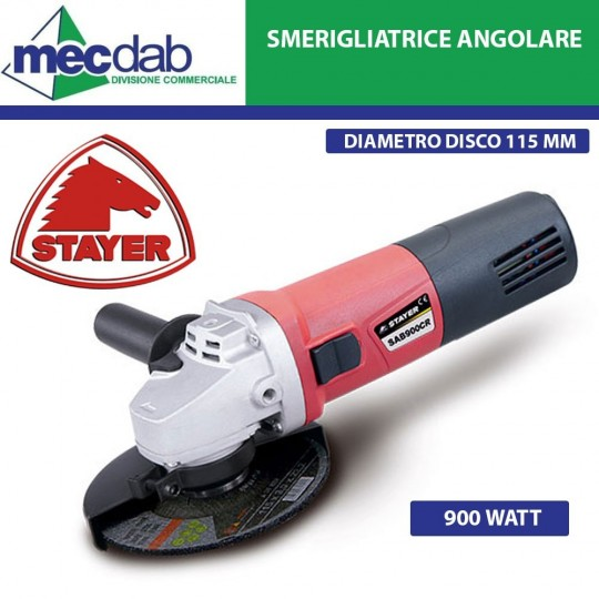 Smerigliatrice Angolare 115mm 900W Stayer – SAB900CR