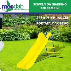 Scivolo Da Giardino Per Bimbo Struttura in Acciaio 185x96xH105 Cm Garden Deluxe