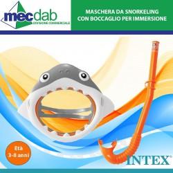 Maschera da Snorkeling A Forma di Squalo con Boccaglio per Immersione Intex-55944