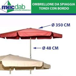Ombrellone in Alluminio Per Terrazza Balcone e Spiaggia Ø 350 Cm