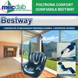 Poltrona Gonfiabile Confort Tre zone di Massaggianti 114X99X112 Cm Bestway
