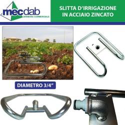 "Slitta D'irrigazione in Acciaio zincato 3/4"""