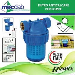 """Filtro per Pompe ad Acqua Ø 1""""(26 x 34) Cartuccia CFL 5"""" Ribimex"""