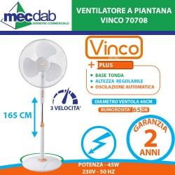 Ventilatore Piantana Tonda Cromato Regolabile in altezza max 165 cm
