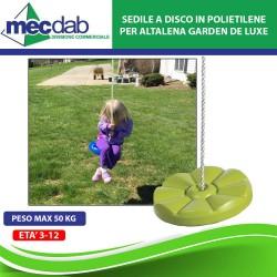 Sedile in Polietilene Verde per Altalena 38x16 CmPeso Max 50 kg Garden De Luxe