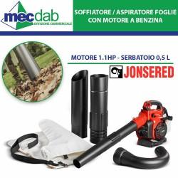 Soffiatore / Aspiratore Foglie Impugnatura Singola Motore a Scoppio 1.1HP 0,5L