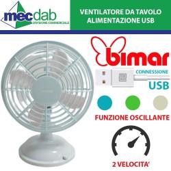Mini Ventilatore Da Tavolo USB Oscillante 2 Velocità Stile Vintage Bimar VT15