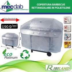 Copertura Barbecue Rettangolare - 130 x 70 x 80 cm Ribimex