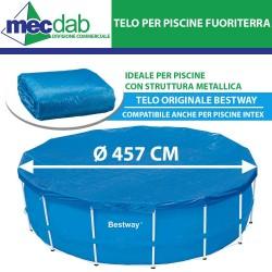 Telo Copri Piscina Circolarein PVC  457 Cm Adatto Per Intex o Bestway 58038