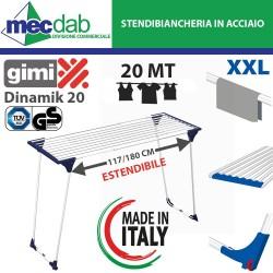 Stendibiancheria Estendibile in Acciaio 20MT Gimi Dinamik20