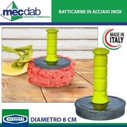 Batticarne in Acciaio Inox con Manico in Plastica Made in Italy Ø 8 Cm Gnali