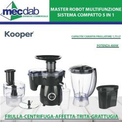 Robo Multifunzione con Frullatore Centrifuga e Grattugia 400W Kooper-2197984
