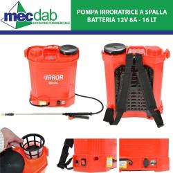 Pompa a Pressione 16LT Irroratrice a Batteria 12V 8A