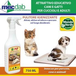 Attrattivo Educativo Cuccioli Cani e Gatti Spray 750 ML Abituante Per Bisogni