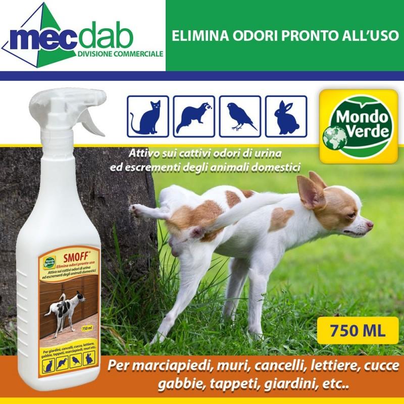Elimina Odori Urina e Cacca Cani e Gatti Spray Pronto all'uso 750ML Mondo Verde