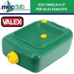 Tanica per Olio Esausto Ecotanica 9LT in Polietilene rinforzato Valex 36015